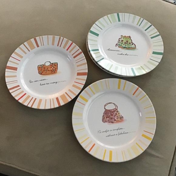 Rosanna Other - Fashion-Themed Salad/Desert Plates. Rosanna EUC
